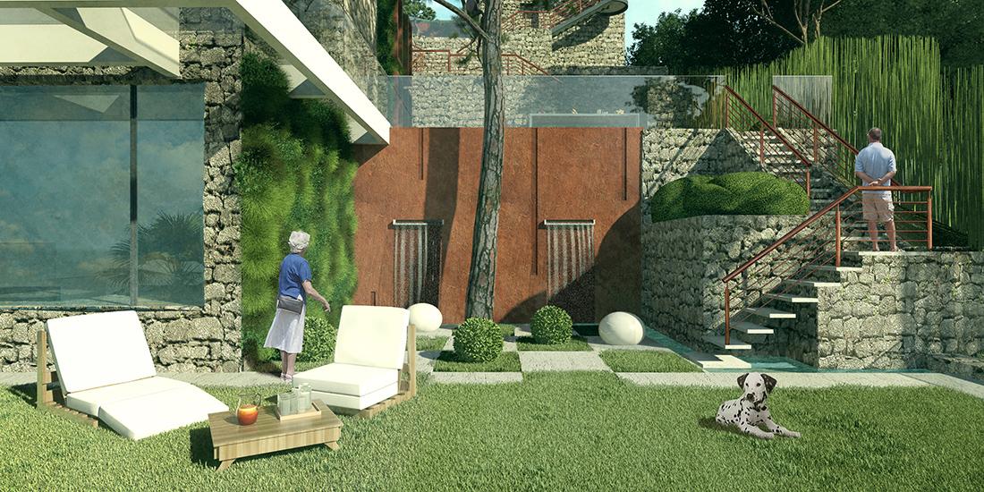 Garden design for summer residence, France