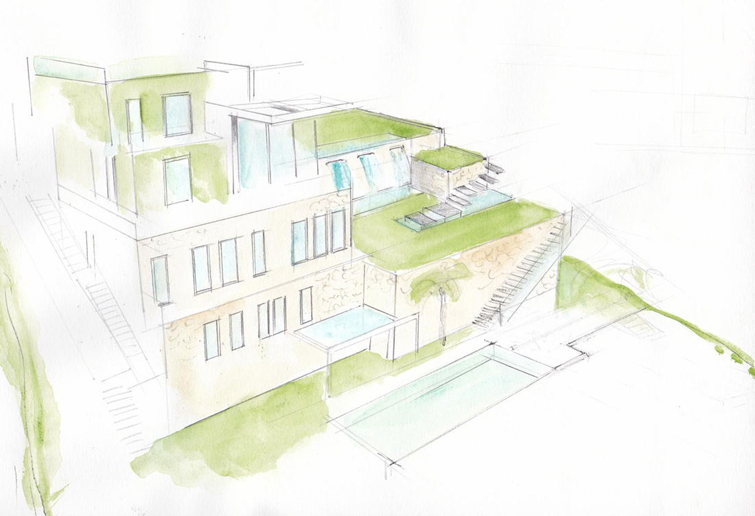Garden design for summer residence on the French Riviera