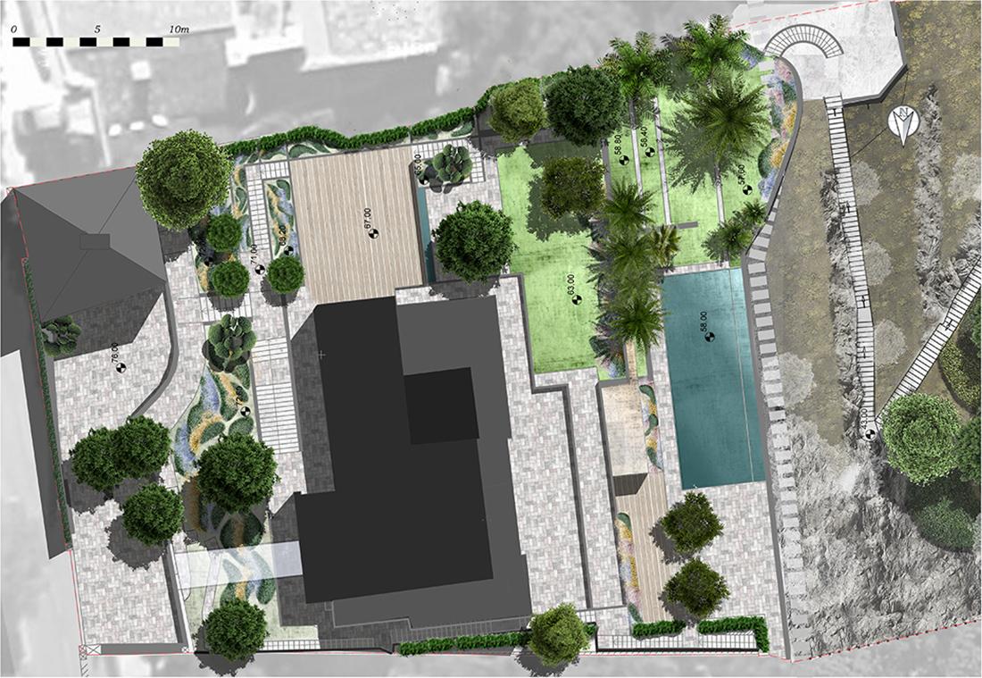 Landscape design project, France