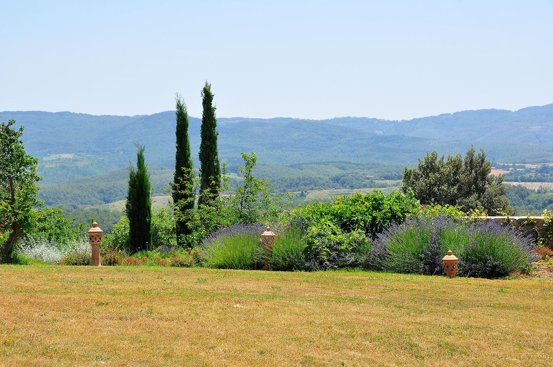 architettura del paesaggio, landscape design, scenografie verdi - Toscana