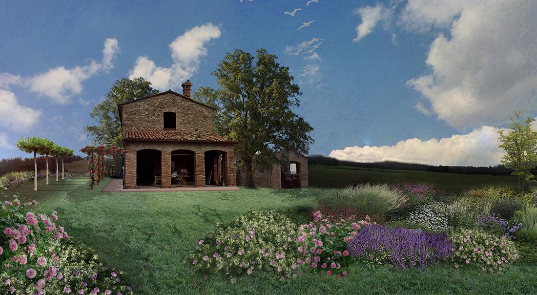 Progetto di giardino privato in umbria - Progetto giardino privato ...