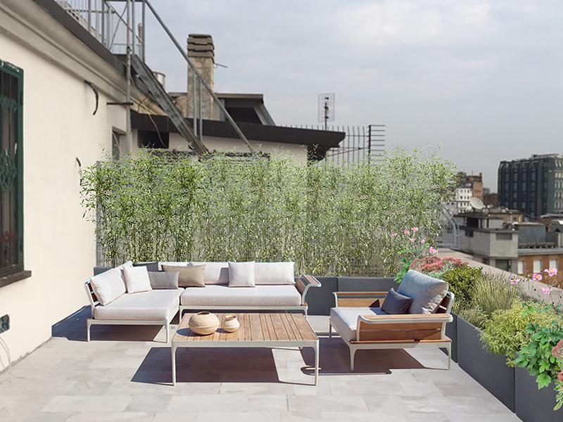 Giardino pensile milano bs26 regardsdefemmes for Arredo giardino terrazzo