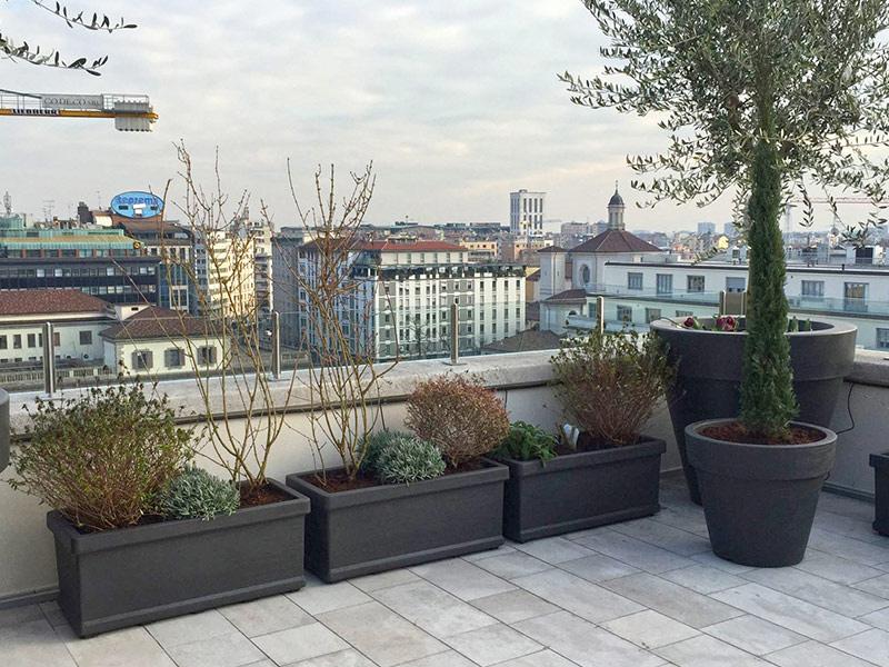 abbastanza Progetto di giardino pensile per terrazzo a Milano VM72