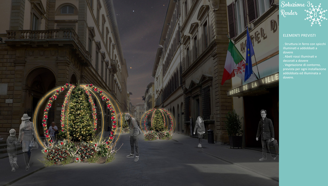 Firenze, scenografie verdi per Natale