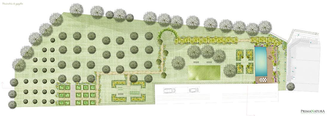 Progetto di giardino privato a grosseto toscana - Progetto giardino privato ...