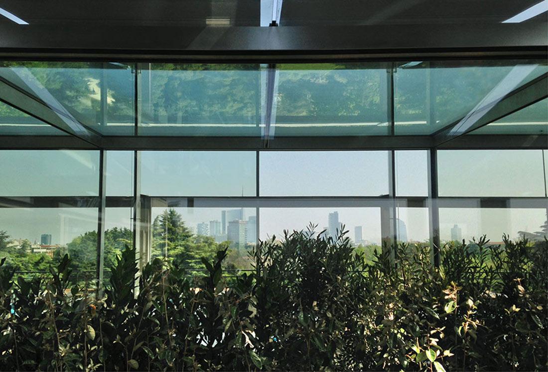 Realizzazione giardino pensile per la terrazza della triennale di milano