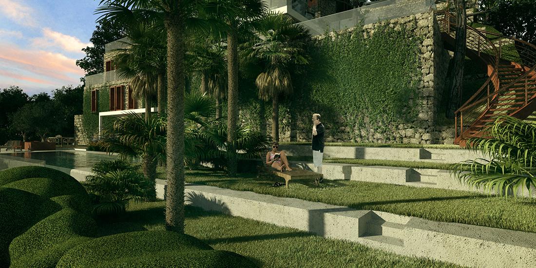 Progetto di giardino privato a cap ferrat francia - Progetto giardino privato ...