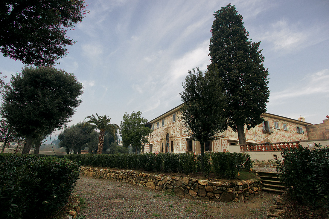 Restauro di giardino monumentale, Villa a Firenze