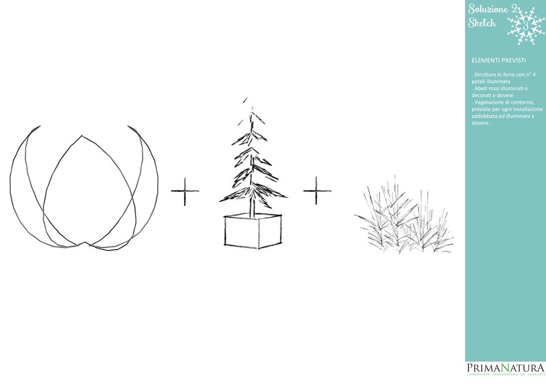 progettazione addobbi natalizi, Firenze
