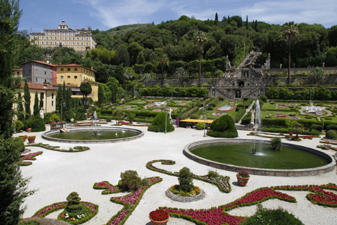 progettazione allestimenti del giardino di Villa in Toscana