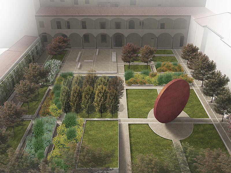 progettazione giardino pubblico, Pistoia