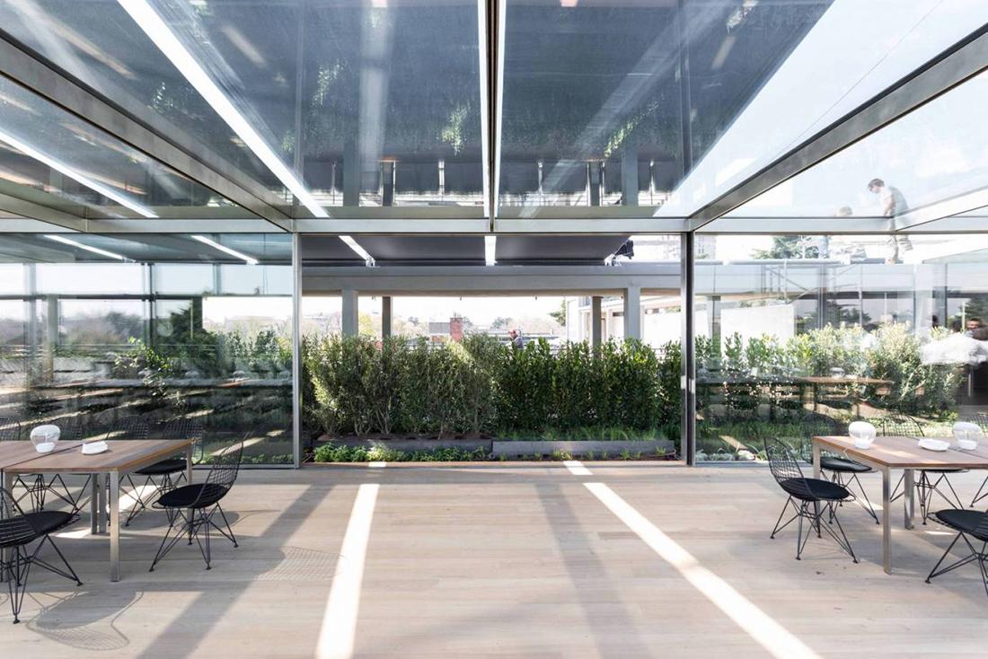 Realizzazione giardino pensile per la terrazza della for Il giardino milano ristorante
