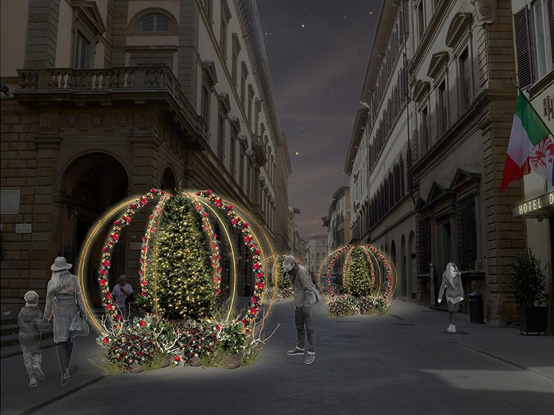 realizzazione scenografie natalizie, Firenze